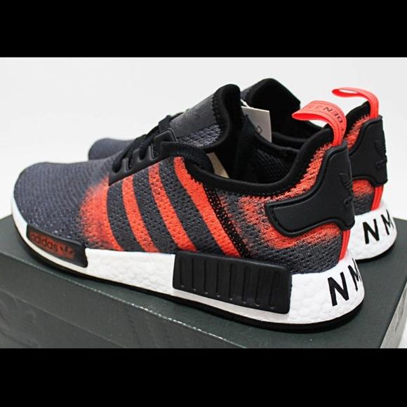 3 Adidas Nmd R1 Stencil Blackred Boost